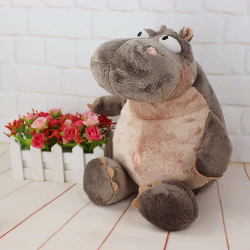 35cm Super Cute Hippo Plush Toys Lovely Stuffed Animal Hippos Cartoon Doll Pillow High Quality Toys For Children Gift<br><br>Aliexpress