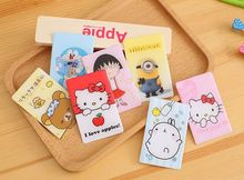 16 Styles 2017 Newest Card Stickers Decoration Bank Bus ID Card Hello Kitty Zootopia Classic Toys Sticker Creative Toy