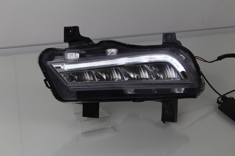 LED DRL daytime running light for chevrolet cruze 2014-15 top quality, yellow turn signals + drl + fog lamp<br><br>Aliexpress