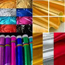 Wholesale price Bronzed Fabrics Metallic Luster Shiny Soft Polyester knit fabric textiles For DIY Decoration 1.2m wide 20 meters