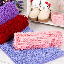 1Pcs Fashion Non-slip Mat Microfiber chenille bath mat rugs and carpets for living room bedroom floor mats bathroom door mat(China)