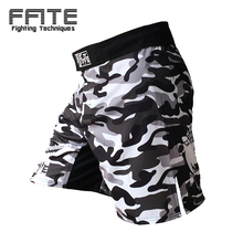 FFITE mma short fight shorts kickboxing shorts for men black mma sport sotf shorts trunks muay thai sanda MMA pants man cheap(China)