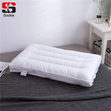 Sookie Cotton Fabric Bedding Pillow Slow Rebound Memory Buckwheat Pillow Soft Cervical Health Care Throw Pillow For Sleeping(China)