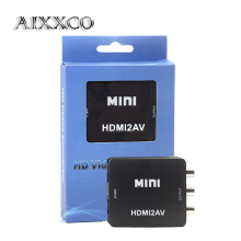 AIXXCO Mini HD Video Converter Box HDMI to RCA AV/CVSB L/R Video 1080P HDMI2AV Support NTSC PAL Output HDMI TO AV Adapter