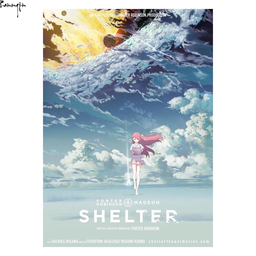 ZP916 Shelter Porter Robinson Short Anime Movie Hot Art Poster Silk Light Canvas Painting Print For Xiangqing9