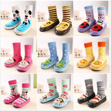 Children's Infant Toddler Cartoon Socks Baby Kid's Indoor Floor Socks Leather Sole Anti-Slip Thick Towel Socks Slippers Boots(China)