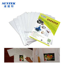50sheets/lot  A3 Light Color Heat Transfer Paper for Inkjet Printer Iron-on Inkjet Thermo transfer paper for 100% Cotton Tshirt