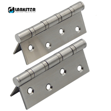 High Quality SUS304 Stainless Steel Ball Bearing 4 inch Flat Opening Hinge 4*3*2.5 Ultra Quiet Door Hinges(China)