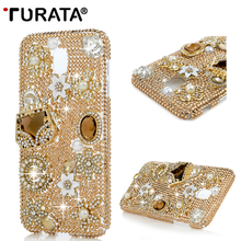3D Rhinestone Case for Samsung Galaxy J7 2017 (European Version)Bling Crystal Diamond Protective Shell Cover for Samsung J730 T4(China)