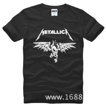 Summer Style Metallica T Shirts Men Cotton Short Sleeve Printed Men's T-Shirt Fashion Male Classic Heavy Metal Rock Band Top Tee(China)