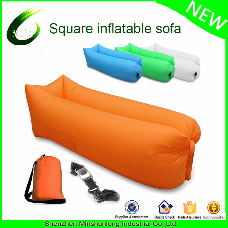 2017 good quality best selling bulk buy fast inflatable sleeping bag outdoor camping hangout couch(China)