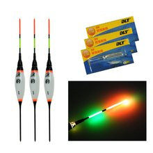 3 Pcs 0.8g 1.3g 1.8g Electronic LED Fishing Floats Buoyancy With Battery Carp Fishing Night Light Luminous Floating Float Bobber