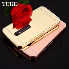 Brand Tuke Luxury Rose Gold Mirror Case Back Cover For Motorola Moto G 3rd gen/Moto G Gen 3/Moto G3 XT1561 XT1543 XT1540