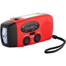 Emergency Solar Hand Crank Dynamo AM/FM/WB Weather Radio rechargeable  LED Flashlight Charger