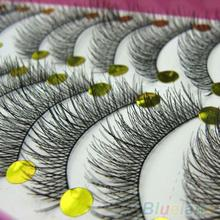 10 Pairs Makeup Beauty False Eyelashes Extension Long Thick Cross Eye Lashes