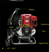 backpack engine sold 4 stroke Gasoline engine for brush cutter with 35.8 cc 1.3HP power