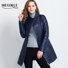 MIEGOFCE 2017 Spring Parka Coat For Women Thin Cotton-Padded Jacket Oblique Placket Women's Jacket Coat Womens Quilted Coat Hot(China)