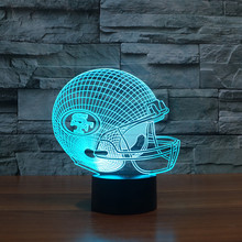 NFL Team San Francisco 49ers Tennessee Titans Colorful 3D Washington Redskins LED Table Lamp Night light Free Drop Ship(China)