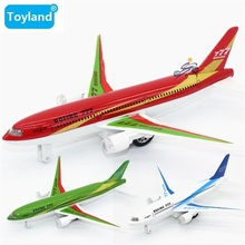 18cm Alloy Metal Emirates Airlines for Boeing 777 Airplane Model Flashing & Musical for Boeing 777 Plane Model Aircarft Toy Gift(China)