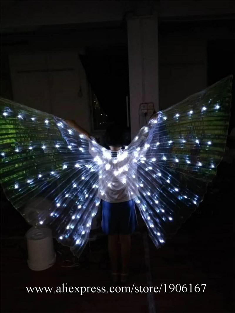 New Design Colorful Led Luminous Party Evening Dress LED Light Up ISIS Wings Flashing Stage Performance Clothes Ballroom Costume02