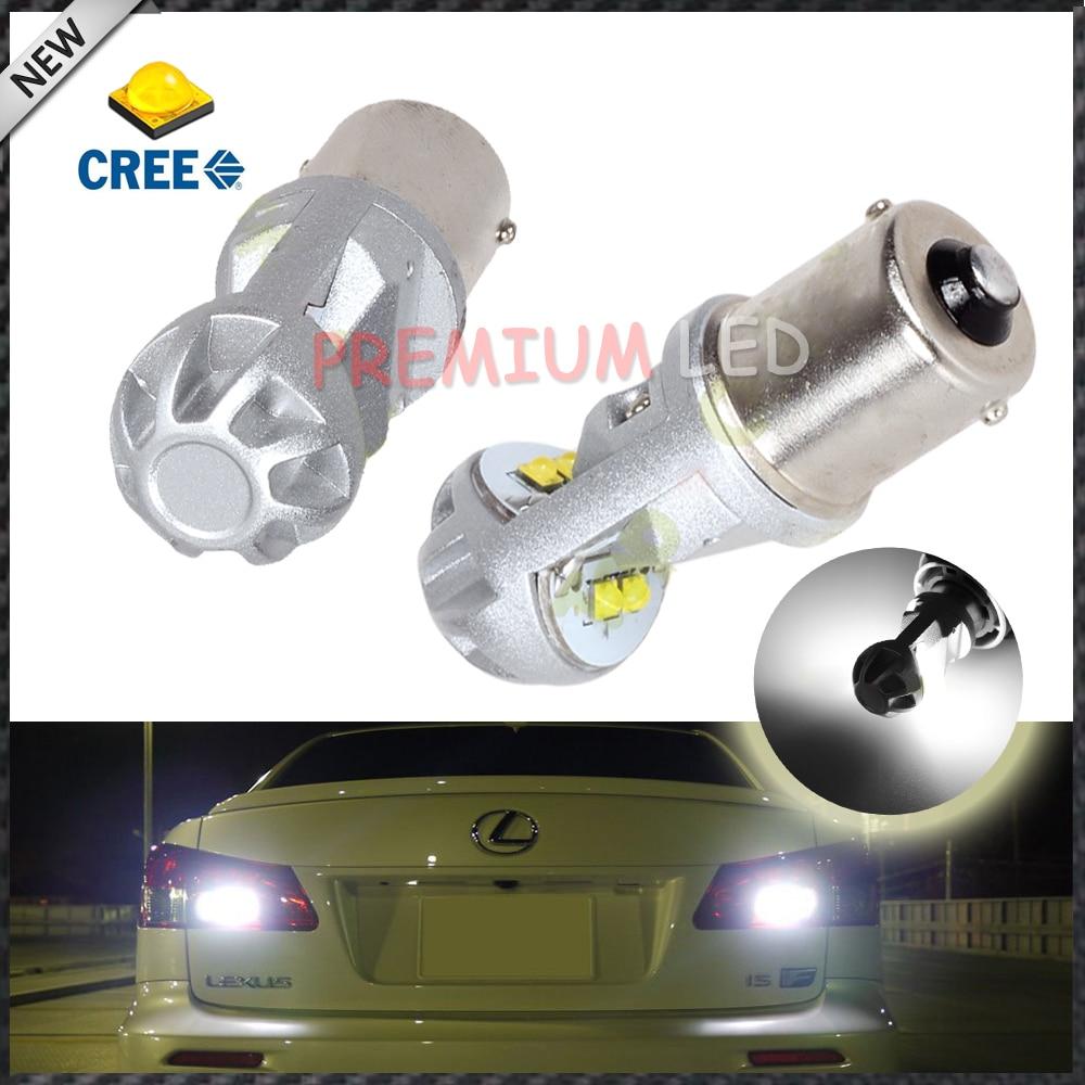 2pcs Super Bright White High Power 20W CREE  XB-D 1156 BA15s P21W LED Bulbs For Brake, DRL, Turn Signal, Backup Lights Lamps<br><br>Aliexpress