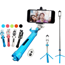 Buy 3 1 Mini Foldable Selfie Stick Self Bluetooth Selfie Stick+Tripod+Bluetooth Shutter Remote Controller iPhone Android for $8.98 in AliExpress store