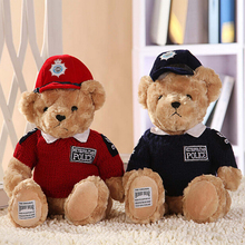 Hot Sale 7.9''20CM Lovely Teddy Bear Police Bear Cute Stuffed Toys Brinquedos Gifts for Children Girls High Quality In Stock