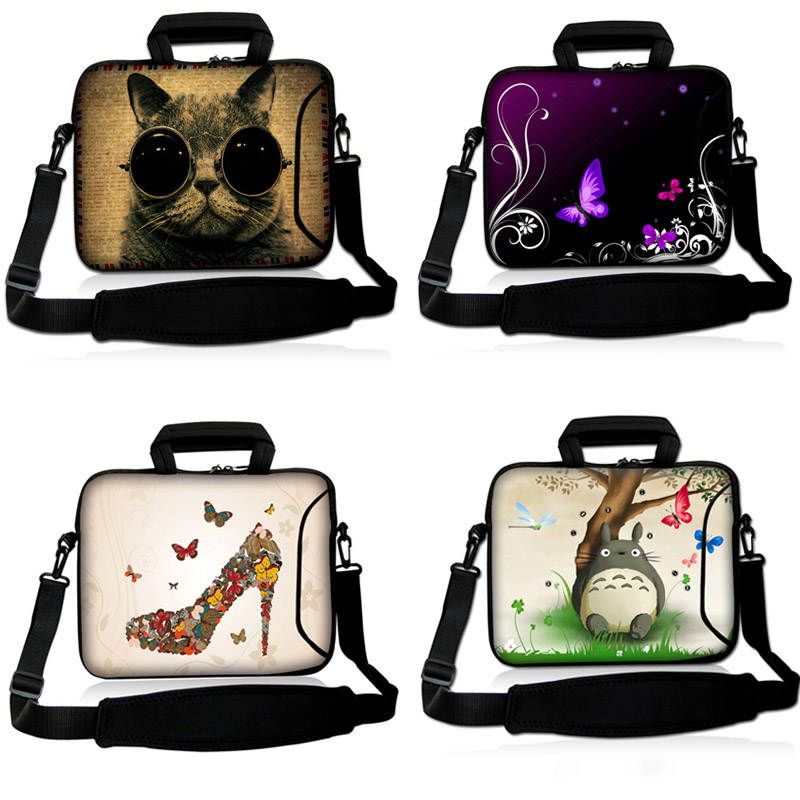 Soft Neoprene Laptop Bag Shoulder Bag Handbag Case Outside Pocket For 10.1 13.3 15.6 17.3 Dell Hp Macbook Acer Laptop Tablet<br><br>Aliexpress