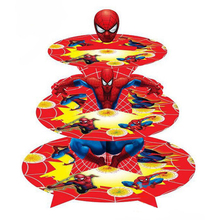 Spiderman superhero 3-tier cupcake stand cupcake holder kids birthday party supplies baby shower party favor