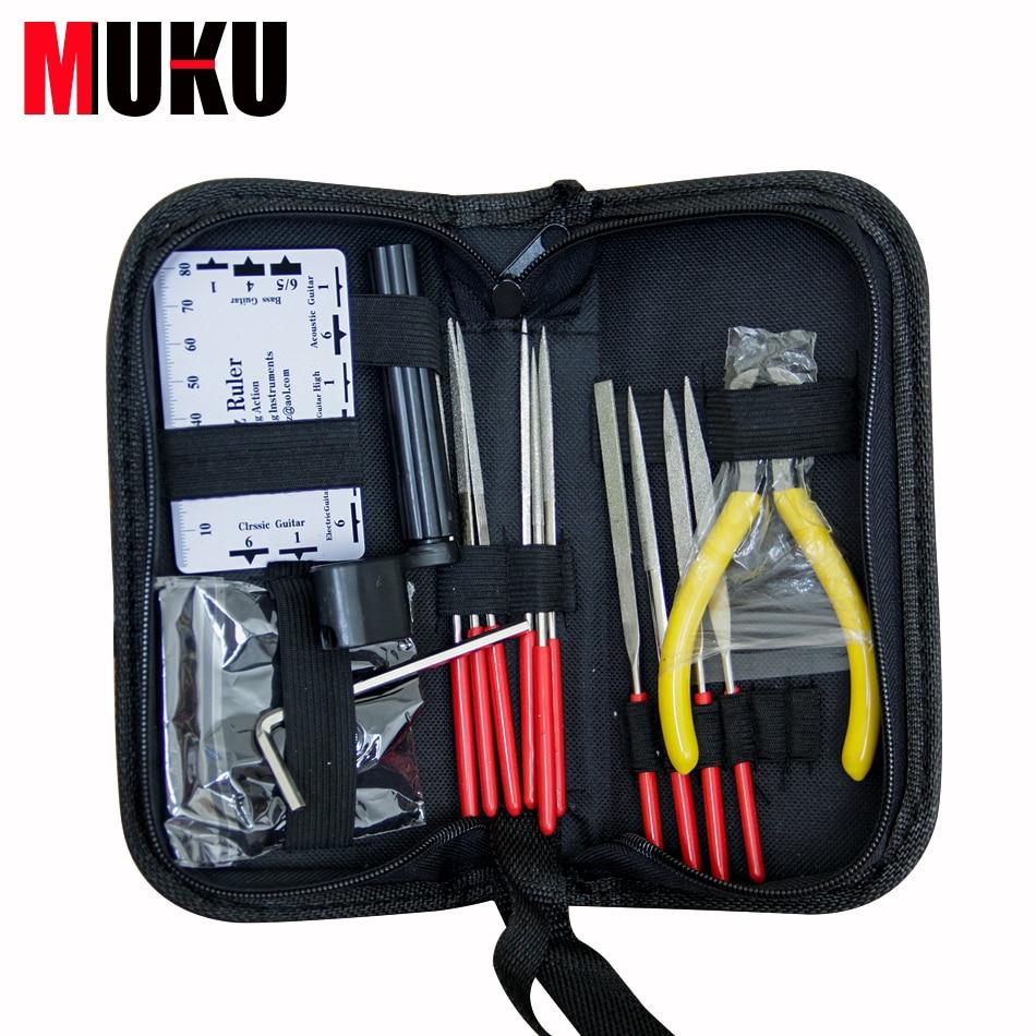 MUKU Guitar Professional Tools / 1 set Nursing Kit Bakelite Guitar Repair Kit Guitar Repair Cleaning Kit Guitar Punch File<br>