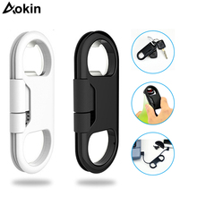Aokin 20cm USB Cable For iPhone 8 6 7 Plus Keychain Charging Sync Cord Cables Beer Bottle Opener For iPhone USB Charger Cables(China)