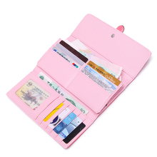 women fashion buckle strap three fold wallet purse female cute pu leather medium wallet carteiras femininas female cute purse