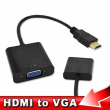 kebidu NEW Male to Female HDMI to VGA Converter Adapter Support 1080P HDTV HDMI 2 VGA for PC Laptop Tablet High Quality(China)