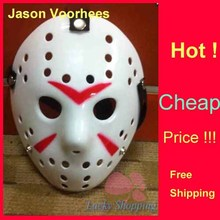 Black Friday Jason Voorhees Freddy hockey Festival Party Mask White With Red Line 100gram PVC For Halloween Masks 200pcs/lot