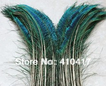 50pcs Natural Green Peacock Sword Feathers(25 left, 25 right) 30-35cm/12-14inches For Decoration Free Shipping(China)