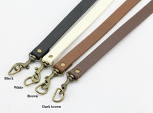 Free shipping 20pcs=10pairs/lot Diy PU leather bag handle. handBag shoulder strap/handles accessories with Hook 63*1.8cm