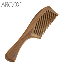 Handmade Natural Sandalwood Hair Comb Antistatic Head Messager Topical Massage Wooden Comb Hair Brush Styling Tools