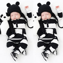 Buy 0-3Y Baby Boys Girls Infants Clothes Long Sleeve Rompers Outfits Newborn Infant Kids Winter Clothing Jumpsuits Baby Outwear for $4.69 in AliExpress store