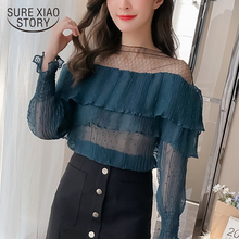 Buy 2018 new spring women tops sexy casual fashion shirts long sleeved blouses patchwork slim blouses women clothing D459 30 for $12.33 in AliExpress store