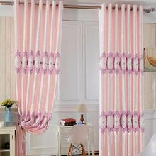 FYFUYOUFY European simple embroidery curtain living room bedroom double jacquard Shading cloth curtain/voile curtain