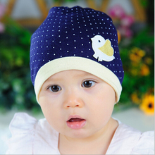Spring Autumn Knitted Newborn Crochet Baby Hat Girl Boy Cap Children Beanie Dot Chicken Infant Cotton toddlers warm winter
