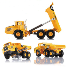 KAIDIWEI 1:87 Volvo A40D type Dumper truck Alloy model toys Alloy Car Model Excellent Gift