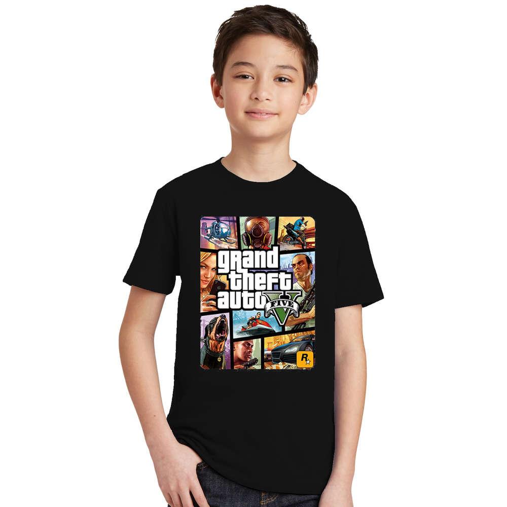 Summer Kids Boys Girls T Shirt 1 gta T-Shirt gta Street Fight Long with gta 5 clothes Children Tees Short Sleeve Kids clothing 3