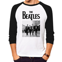 New the beatles Rock and roll Funny T-shirt Men Humor Casual brand clothing College Mens The guitar HipHop long Sleeve T Shirt