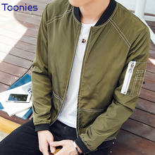 Bomber Jacket Men 2017 Patchwork Pattern Male Autumn Jacket Coat Stand Collar Long Sleeve Zipper Thin Baseball Jackets Coats