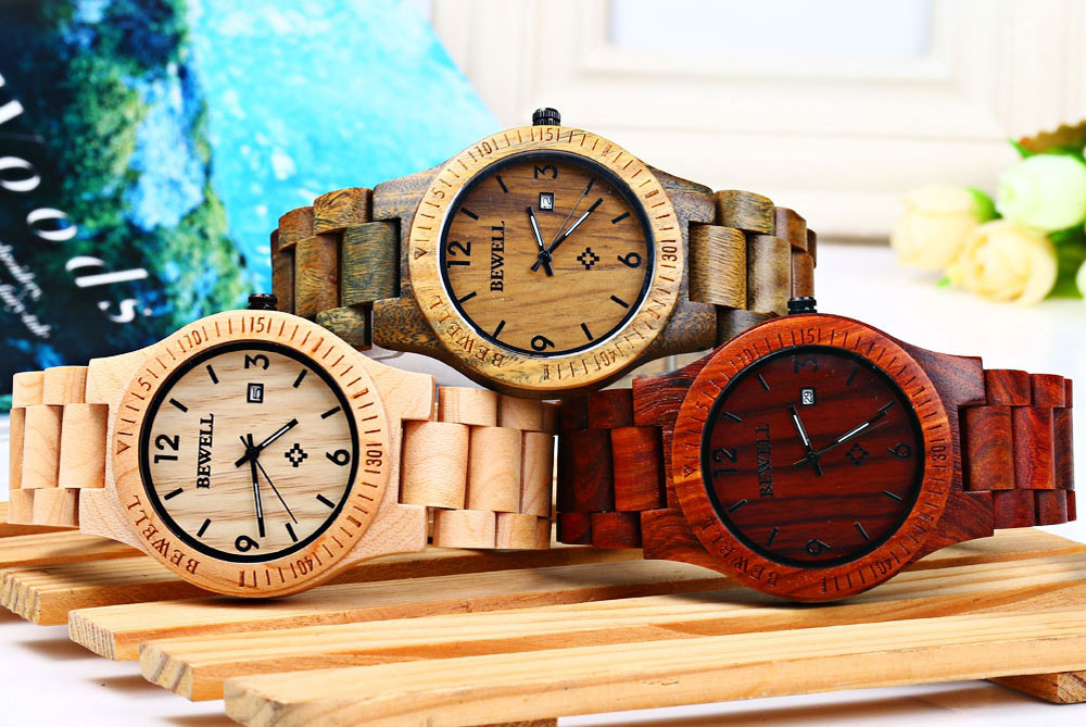 2017 BigBen Bewell Luxury Brand Wood Watch Men Analog Natural Quartz Movement Date Male Wristwatches Clock Relogio Masculino (17)