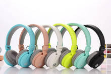 Fashion Cute Headphones Candy Color Foldable Kids Headset with Mic Earphone for Mp3 player Smartphone Girl Children Headsets(China)