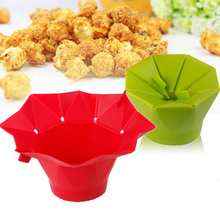 Microwave Silicone Popcorn Bowl Baking Snack Popper Maker Frutero Recipiente Fruta Vaisselle Japonaise Food Container Soup Bowl(China)
