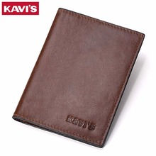 KAVIS Genuine Leather Passport Cover ID Business Card Holder Travel Credit Wallet for Men Purse Case Rfid Driving License Male(China)