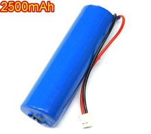 18650 with plug battery 2500mAh 3.7V lithium battery LED flashlight Li-ion Cell